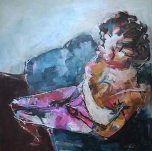 لوحة للفنان السوري طارق بطيحي