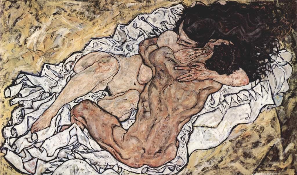أيغون شيليه، The Embrace (The Loving)، 1917