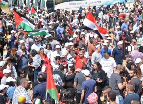 من مسيرة العودة في الكابري- تصوير: موقع حصاد